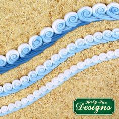 Καλούπι Σιλικόνης της Katy Sue - Μπορντούρα Κυμάτων (Sea Swirl Borders)