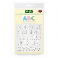 Καλούπι Σιλικόνης της Katy Sue - Καμπυλωτά Γράμματα - Αγγλικά (Domed Alphabet)