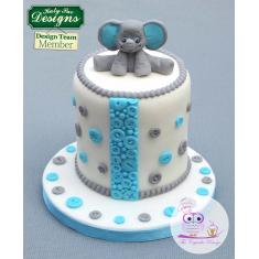 Καλούπι Σιλικόνης της Katy Sue - Ελεφαντάκι (Baby Elephant Sugar Buttons)