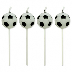 Football Candles set of 4
