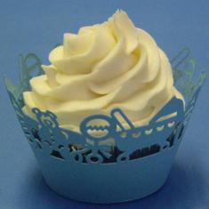 Σιέλ Διακοσμητικές Θήκες για αγορίστικα Cupcakes 12τεμ.