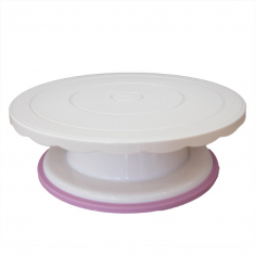 White Turntable - Cake Stand for cake decoration Ø 28 H8cm ABS Material