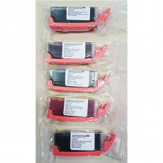 Edible ink Cartridge with Chip, Set of 5 colors (TK171-TK175) (PGI-570 / CLI-571)
