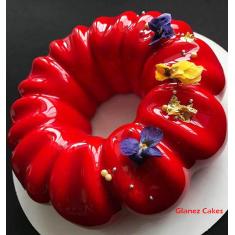 Καθρέπτης φρούτων γεύση-χρώμα Φράουλα 1κ. Strawberry Mirror Glaze
