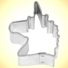 Mini Unicorn Head Cookie Cutter 1.75in