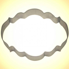 Elegant Plaque Cookie Cutter 4in