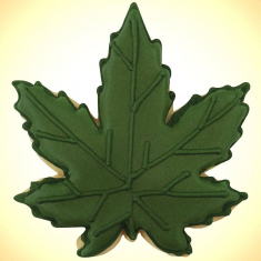 Marijuana Leaf Cookie Cutter 4 in