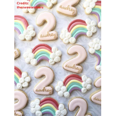 Metallic Cookie Cutter Rainbow with Cloud ends 4,75in