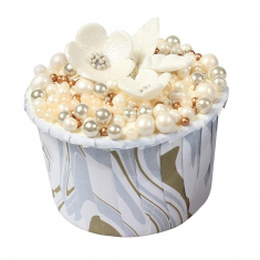 Marble Silver and Gold Baking Cups 24pcs