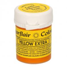 Έξτρα Κίτρινο Συμπυκνωμένο Βρώσιμο Χρώμα 42γρ της Sugarflair