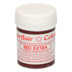 Red Extra 42gr Sugarflair Paste Concentrated Colors