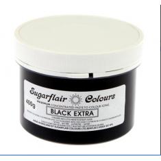 Έξτρα Μαύρο Συμπυκνωμένο Βρώσιμο Χρώμα 400γρ της Sugarflair