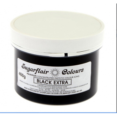 Black Extra 400gr Sugarflair Paste Concentrated Colors