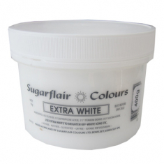 Extra White 400gr Sugarflair Paste Concentrated Colors