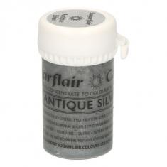 Παλαιωμένο Ασημένιο Σατινέ  Συμπυκνωμένο Βρώσιμο Χρώμα Πάστας 25γρ της Sugarflair