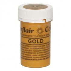 Χρυσό Σατινέ Συμπυκνωμένο Βρώσιμο Χρώμα Πάστας 25γρ της Sugarflair