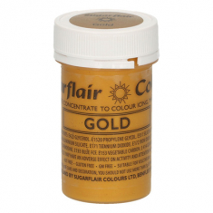 Gold 25gr Sugarflair Satin Paste Concentrated Colors