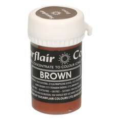 Brown 25gr Sugarflair Pastel Paste Concentrated Colors
