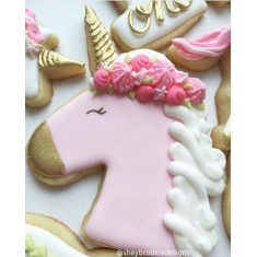 Unicorn Head With Mane Cookie Cutter 5in