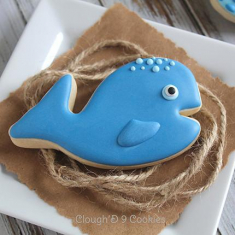 Metallic Cookie Cutter Whale 3,5in