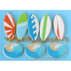 Metallic Cookie Cutter Surfboard 5in