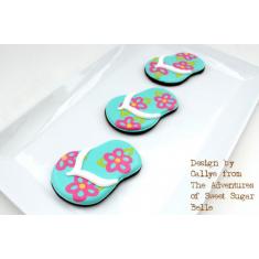 Metallic Cookie Cutter Flip Flop 4,5in