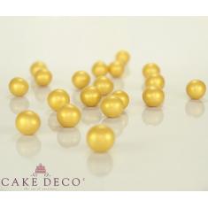Χρυσές Μεταλλιζέ Μεγάλες Crunchy Πέρλες Δ1,8εκ. 140γρ