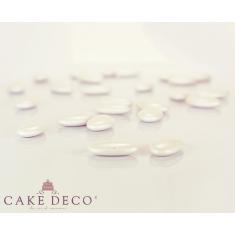 Pearl White Crunchy Chocolate Flat Shaped Bonbon 1.7x3cm 180g