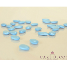 Pearl Light Blue Crunchy Chocolate Flat Shaped Bonbon 1.7x3cm 180g