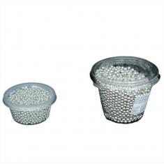 Metallic Silver Choco Pearls 1cm 180gr