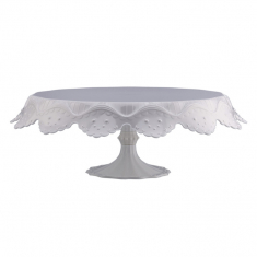 Papillon Large White Transparent Cake Stand D280 x H120mm