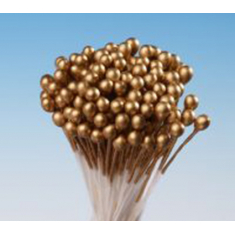 Gold Small Round Pearl Stamens 288 heads per package
