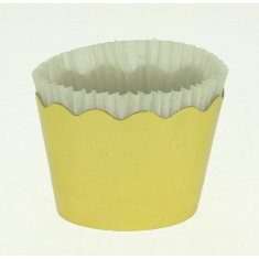 Metallic Gold Small Cupcake Cups with anti-stick Baking Sheet D5,7xH4cm-65pcs