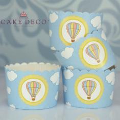 Βίνταζ Αερόστατο - Θήκες Ψησίματος Cupcakes με καραμελόχαρτο Μεγάλα Δ7xΥ4,5εκ. -  20τεμ