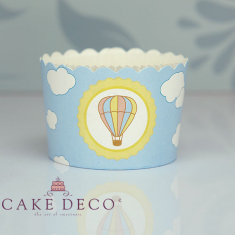 Βίνταζ Αερόστατο - Θήκες Ψησίματος Cupcakes με καραμελόχαρτο Μεγάλα Δ7xΥ4,5εκ. -  65τεμ