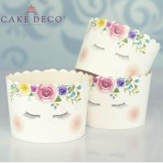 Unicorn Cupcake Baking Cases  with anti-stick liner D7xH4,5cm. 65pcs