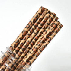 Animal Paper Straws Leopard Print