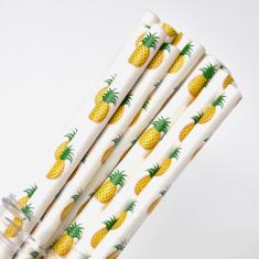 Fruit Paper Straws Pineapple