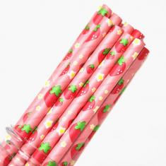 Χάρτινα Καλαμάκια με φρούτα - Φράουλα