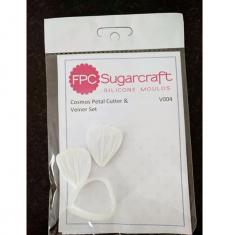 Σετ Αποτύπωμα και Κουπάτ λουλουδιού Κόσμος - Καλούπι για Ζαχαρόπαστα - Σοκολάτα της FPC