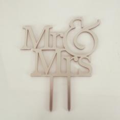 Ασημί πλέξιγκλας Topper Mr & Mrs 12εκ. Σχέδιο 1