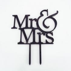 Μαύρο πλέξιγκλας Topper Mr & Mrs 12εκ. Σχέδιο 1