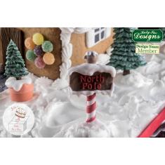Χριστουγεννιάτικη Ταμπελίτσα Βόρειος Πόλος - Καλούπι Σιλικόνης της Katy Sue (Sign posts)