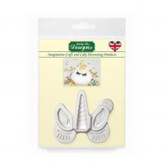 Κέρατο Αυτιά Βλεφαρίδες Μονόκερου - Καλούπι Σιλικόνης της Katy Sue (Unicorn Ears Horn Lashes Mould)