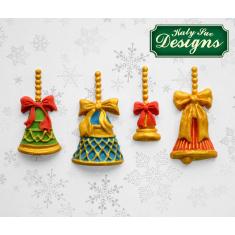 Χριστουγεννιάτικες Καμπανούλες - Καλούπι Σιλικόνης της Katy Sue (Christmas Bells)