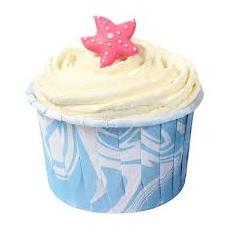 Θήκες Cupcakes Σχέδιο μάρμαρου σε Γαλάζιο Λευκό- 5,8εκ. 24τεμ.