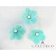 Cake Deco Turquoise Petunias with White Pearl (30pcs)