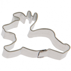 Mini Reindeer Metallic Cookie Cutter 1.75in