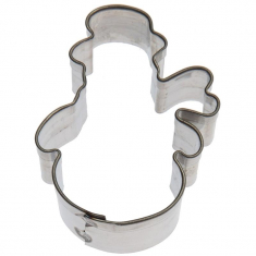Mini Snowman with Scarf Cookie Cutter 1.5in