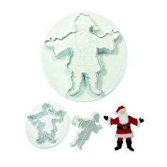 M/XL Father Christmas Cutter - Embossing Set of 2